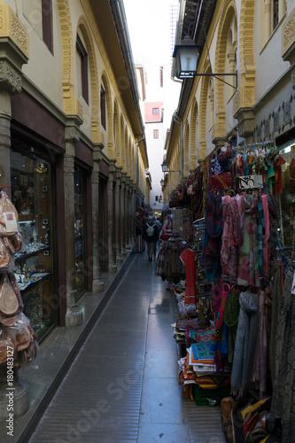 Fotobehang Smalle straatjes Granada