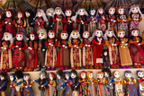 colorful rag dolls as souvenirs from Armenia - 180487532