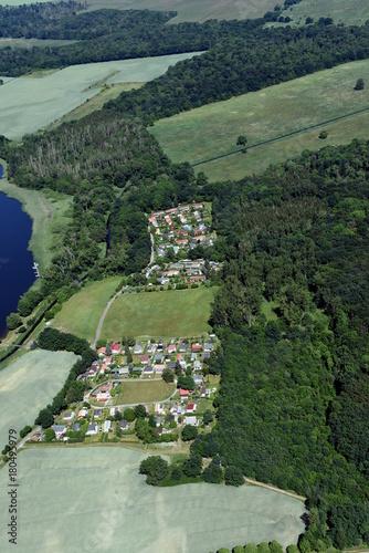 Plexiglas Olijf Bungalowsiedlung Lubkowsee