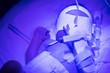 Leinwandbild Motiv Premature baby recieving UV treatment for jaundice