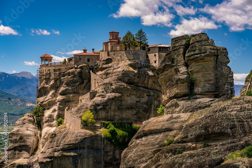 Keuken foto achterwand Grijze traf. Meteora, Monasteries on Huge Rocks, near Kalabaka in Greece
