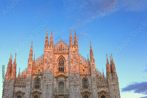 Foto op Canvas Milan Milan Cathedral, Duomo di Milano at the dusk