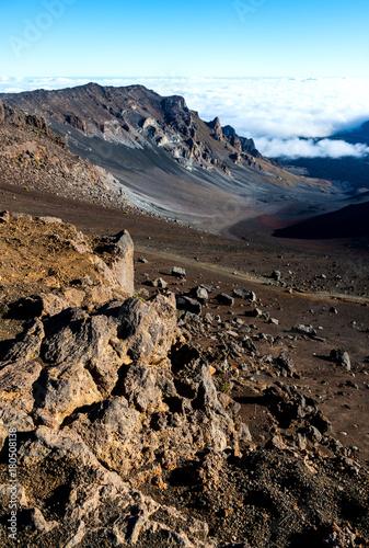 Poster Chocoladebruin View of the Haleakala National Park Summit District. Maui, Hawaii