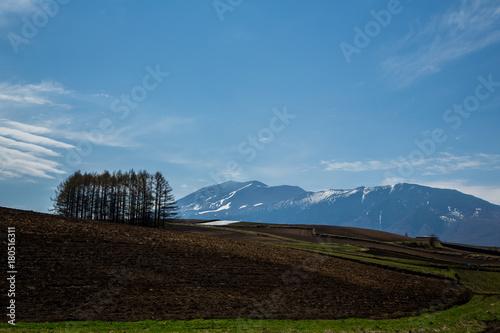 Aluminium Blauwe jeans 嬬恋高原から浅間山を臨む