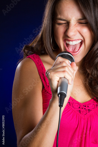 Fototapeta Beautiful Girl Singing