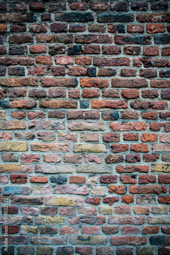 Papiers peints Brick wall old red brick wall texture background