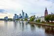 FRANKFURT AM MAIN, GERMANY - SEPTEMBER 20, 2015: View of Frankfurt am Main skyline