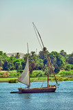 Traditional Boat on the Nile River in  Egypt - 180533550