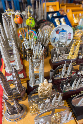 Fotobehang Kuala Lumpur Malaysian souvenirs for sale