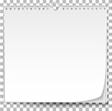 White wall calendar template on transparent background - 180534991