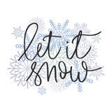 Let it snow hand written inscription - 180542302