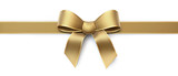Golden silk ribbon with gold border - horizontal - 180542581