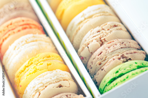 Foto op Canvas Macarons French Macarons