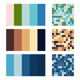 color palette set background. Harmony color combos spectrum - 180544778
