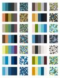 color palette set background. Harmony color combos spectrum - 180544799