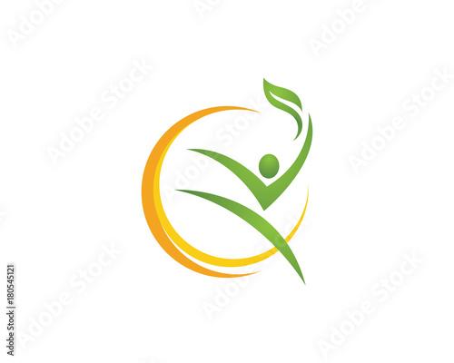 Human character logo sign - 180545121