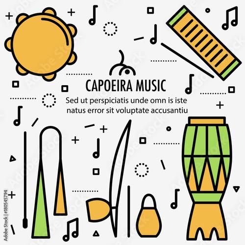 Fototapeta Brazilian Capoeira Music Instruments