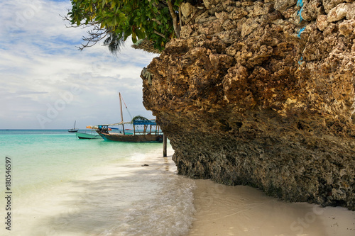 Foto op Plexiglas Zanzibar Beautiful landscape on the Indian ocean coast