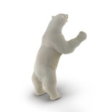 Large male White Bear Standing Pose on a white. 3D illustration - 180552304