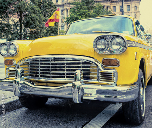 Foto op Plexiglas New York TAXI Old taxi in New York City. Vintage filtered