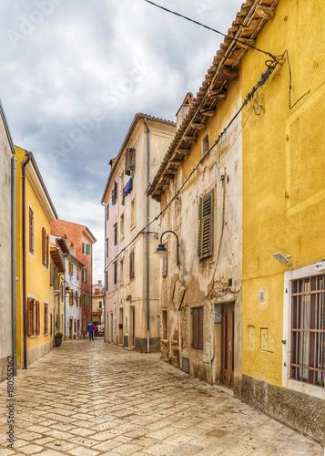 Fotobehang Smalle straatjes Rovinj Croatia