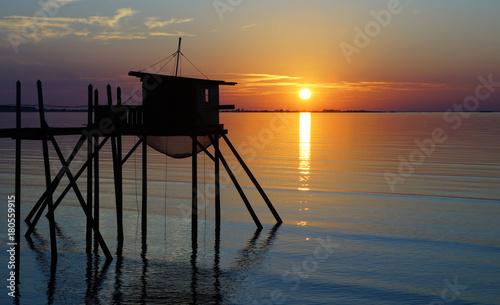 coucher de soleil sur l'île d'Oléron