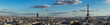 panorama of famous Eiffel Tower and Paris roofs, Paris France