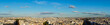 panorama of Paris with Mont Matre hill and Champs Elysees street, Paris France