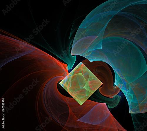 Fotobehang Heelal fractal on black