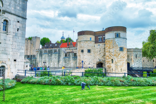 The Tower of London on a overcast day, UK