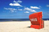 Strandkorb 2018 Meer - 180572959