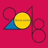 2018 - carte de vœux - design - entreprise - carré -graphique - élégante - chic - bonne année - 180578723