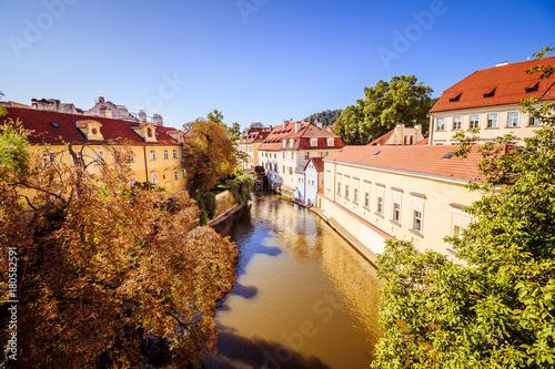 Papiers peints Prague Blick auf Prager Altstadt von der Karlsbrücke