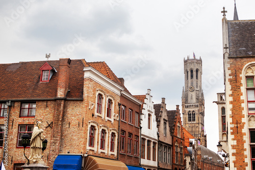 Fotobehang Brugge Rozenhoedkaai, Historic Centre of Bruges