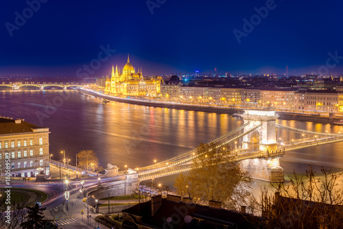 Papiers peints Budapest Danube River in Budapest in Hungary