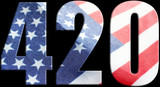 420 Logo With American Flag