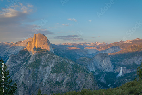 Half Dome Sunset from Glacier Point Poster