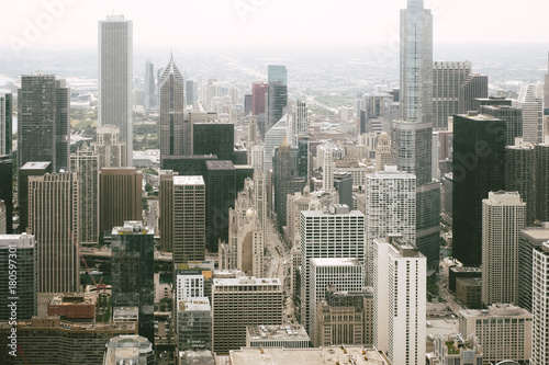 Chicago downtown from above Poster