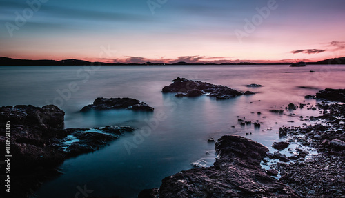 Fotobehang Zee zonsondergang Landscape
