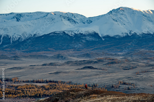 In de dag Nachtblauw Autumn in the Altai Mountains