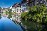 The Ill river in Petite France area in strasbourg - 180599995