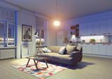 modern apartment interior - 180600376