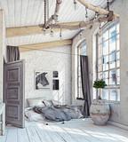 Scandinavian  Bedroom interior - 180600549