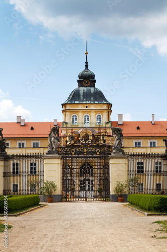 Poster Baroque-Classicist New Chateau Horovice in Bohemia, Czech republic, Europe