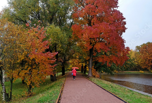 Fotobehang Moskou Autumn in Terletsky Park in Moscow
