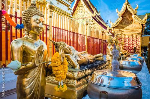 Fotobehang Thailand Wat Phra That Doi Suthep temple in Chiang Mai, Thailand.