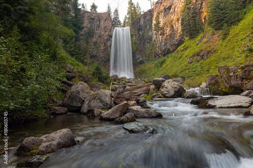 Tumalo Falls in Central Oregon USA America - 180603745