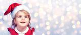 Happy Child With Santa Hat - 180606943