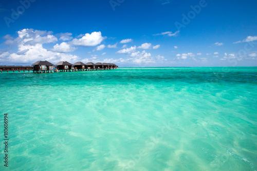 Deurstickers Groene koraal Maldives beach