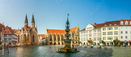 Leinwanddruck Bild Braunschweig, Altstadtmarkt